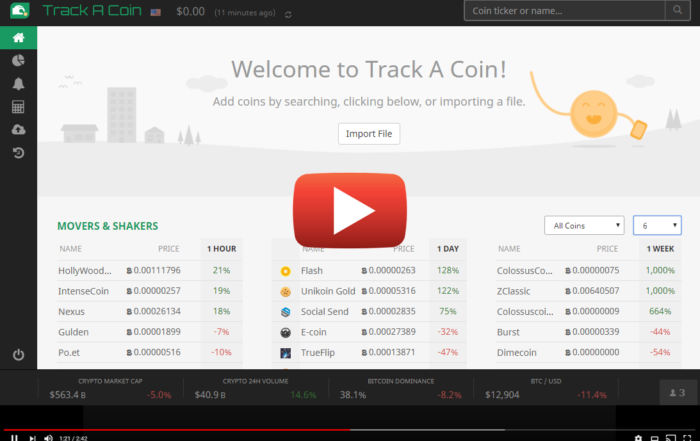 trackacoin homepage video